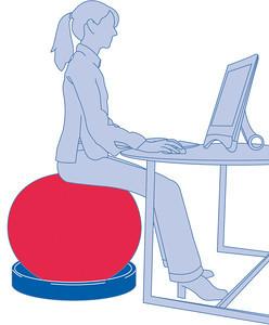 palla per tonificazione addominali e postura corretta - sedersi
