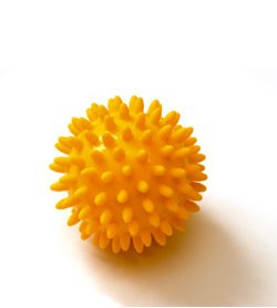 Image SISSEL® SPIKY-BALL set 2 pz Ø 8 cm, giallo